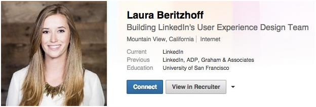 linked profile professional look