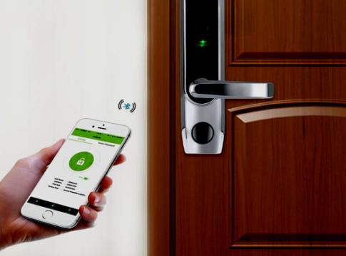 fingerprint biometric bluetooth smart door lock