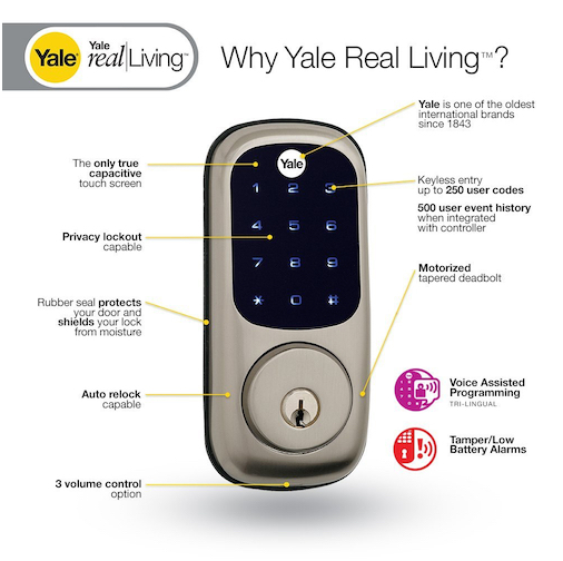 yale real living touchscreen a wave smart door lock