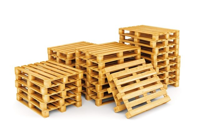 shipping pallet.