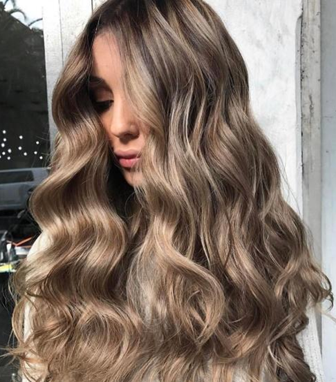 Dark Blonde with Light Blonde Highlights