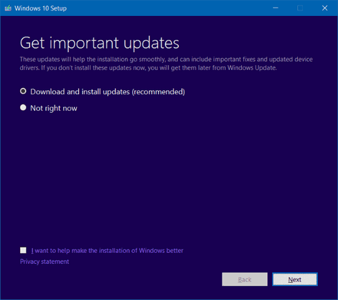 windows 10 download and install updates