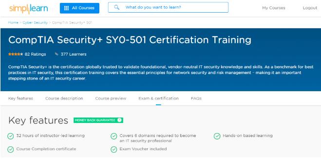 comptia certification training