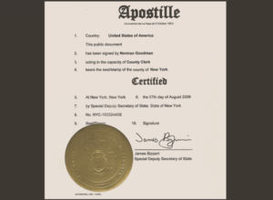 apostilled