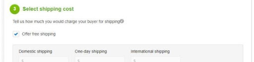shopping cost - calculate ebay fee