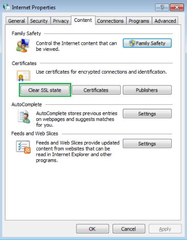 clear SSL state