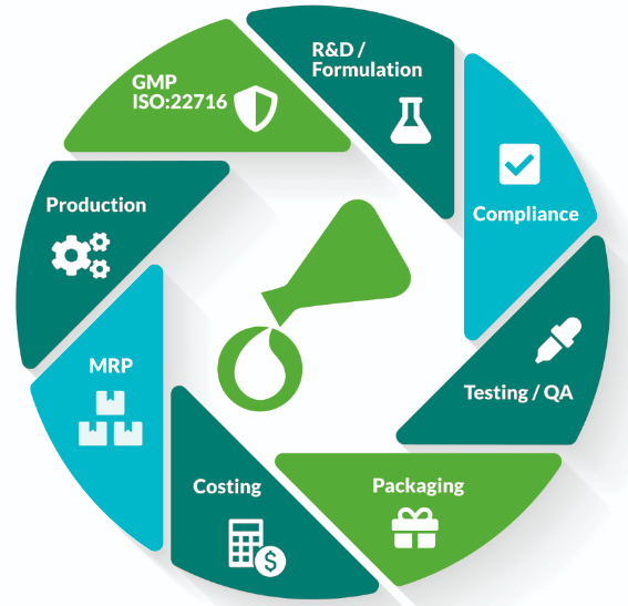 cosmetics manufacturing software