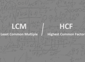 LCM and HCF