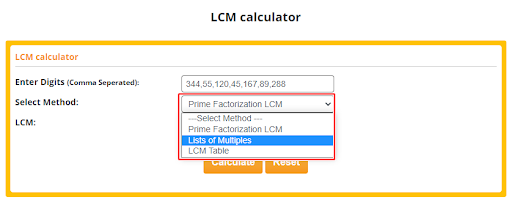 lcm calculator