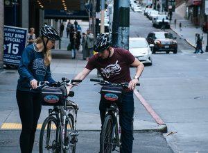 cyclists helmets