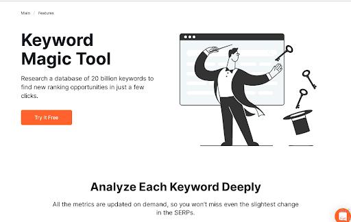 Semrush's Keyword Magic Tool
