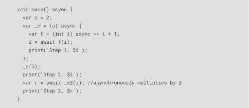flutter code output